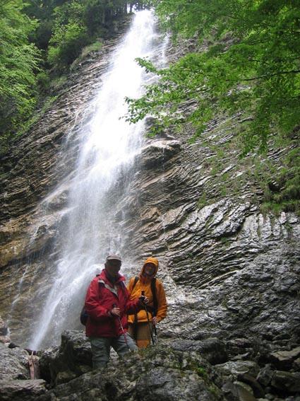 Foto: Christian Schickmayr / Wander Tour / Hochfelln über Weißachental / Abstecher zu schönem Wasserfall entlang des Aufstieges / 09.10.2009 09:38:02