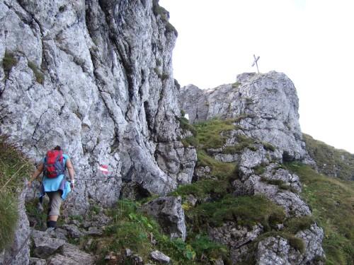 Foto: hofchri / Wandertour / Schafberg (1782 m) - Runde Purtscheller (B) - und Himmelspfortensteig (A) / am versicherten Steig / 10.10.2009 20:18:35