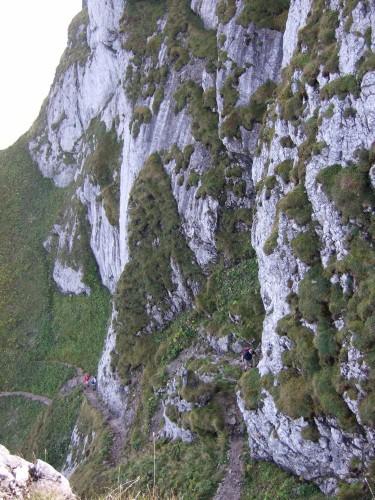Foto: hofchri / Wandertour / Schafberg (1782 m) - Runde Purtscheller (B) - und Himmelspfortensteig (A) / die letzten steilen Meter / 10.10.2009 20:19:09