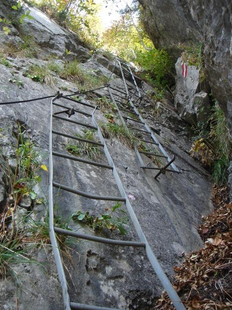 Foto: Manfred Karl / Klettersteig Tour / Klettersteig Burgstall / 13.10.2009 21:48:49