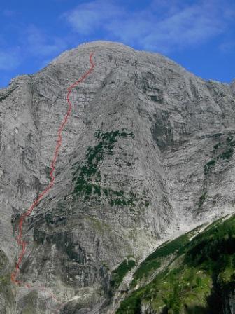 Foto: leo / Kletter Tour / Der Längste Tag - Rotgschirr Nordwestwandtrichter / 14.10.2009 08:09:42