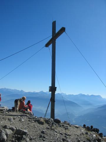 Foto: pepi4813 / Wander Tour / Von Terenten auf die Eidechsspitze / Gipfelkreuz Eidechsspitze / 14.10.2009 20:52:19