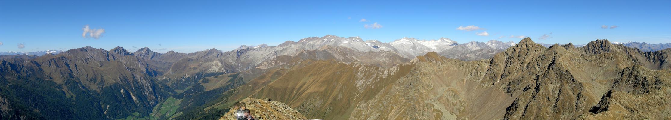 Foto: pepi4813 / Wander Tour / Von Terenten auf die Eidechsspitze / Panorama Eidechsspitze nach Norden / 14.10.2009 20:44:04