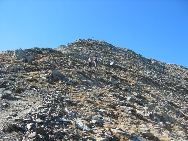 Foto: pepi4813 / Wander Tour / Von Terenten auf die Eidechsspitze / die letzten Meter zum Gipfel der Eidechsspitze / 14.10.2009 20:51:53
