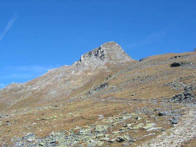 Foto: pepi4813 / Wander Tour / Vom Pfitschtal auf den Wolfendorn / Blick vom Flatschjoch zum Wolfendorn / 16.10.2009 10:25:41