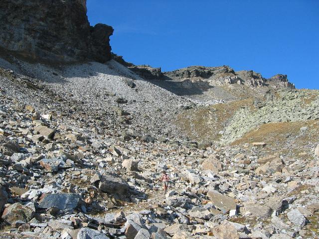 Foto: pepi4813 / Wander Tour / Vom Pfitschtal auf den Wolfendorn / Abstieg durchs Schuttkar / 16.10.2009 10:24:24