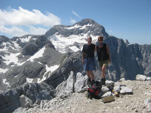 Foto: Wolfgang Lauschensky / Wander Tour / Cmir (2393m) / Cmirgipfel mit Triglav / 17.10.2009 18:40:07