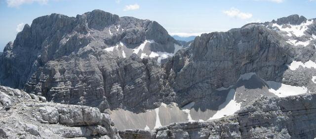 Foto: Wolfgang Lauschensky / Wander Tour / Cmir (2393m) / Rjavina im Hintergrund, Vrbanova spica mittig / 17.10.2009 18:39:52