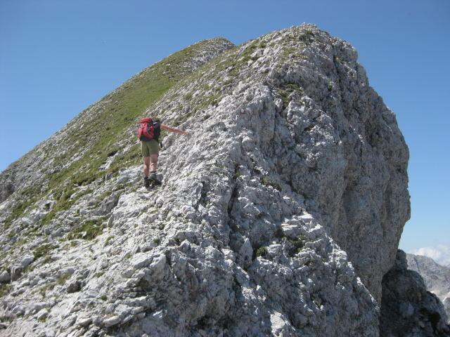 Foto: Wolfgang Lauschensky / Wander Tour / Cmir (2393m) / ausgesetzte Grataufschwünge / 17.10.2009 18:39:32