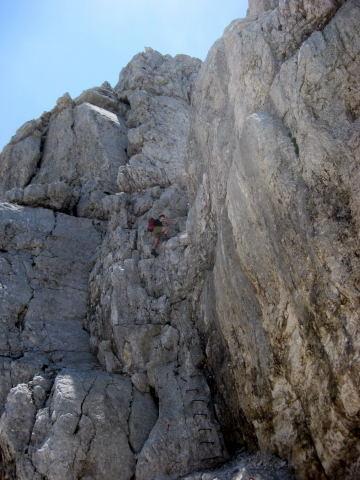 Foto: Wolfgang Lauschensky / Wander Tour / Cmir (2393m) / wenig Seil, einige Zapfen / 17.10.2009 18:38:54