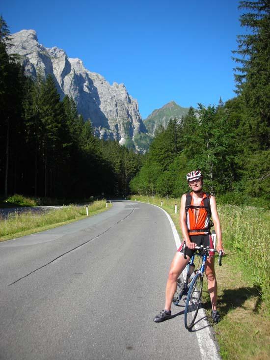 Foto: Bernhard Berger / Rad Tour / Rennradrunde durch die Karnischen- und Julischen Alpen / Plöckenpaß Nordrampe (Foto Christian Wührer) / 20.10.2009 20:36:45