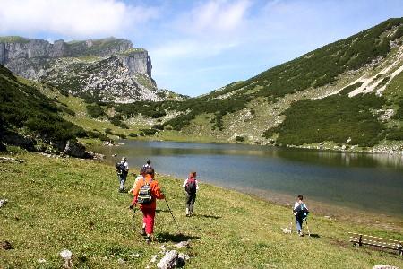 Foto: bergsepp / Mountainbike Tour / Bergwandertouren mit dem Alpinroller in Bergbahnnähe,  mind. ein 3 Tageskurs zum anlernen / gegen den Zireinsee und Rofanspitze / 18.10.2009 00:40:22