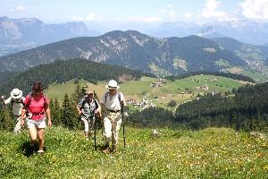 Foto: bergsepp / Mountainbike Tour / Bergwandertouren mit dem Alpinroller in Bergbahnnähe,  mind. ein 3 Tageskurs zum anlernen / Wandergruppe gegen Thierbach in der Wildschönau / 18.10.2009 00:51:29