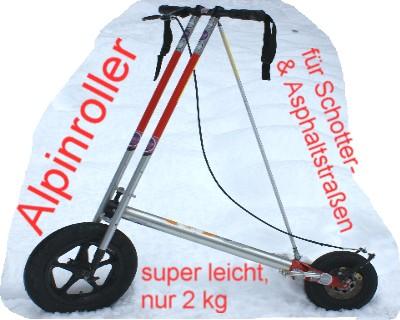 Foto: bergsepp / Mountainbike Tour / Bergwandertouren mit dem Alpinroller in Bergbahnnähe,  mind. ein 3 Tageskurs zum anlernen / Der superleichte Alpinroller, welcher am oder im Rucksack leicht zu tragen ist / 17.10.2009 23:20:50