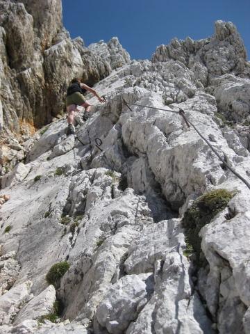 Foto: Wolfgang Lauschensky / Wander Tour / Rjavina 2532m / steile Verschneidung zum Westgrat / 18.10.2009 12:09:49