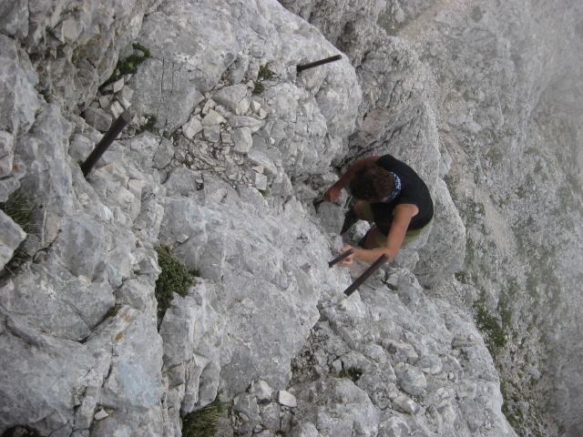 Foto: Wolfgang Lauschensky / Wander Tour / Rjavina 2532m / ausgesetzte Zapfenkletterei / 18.10.2009 12:13:40