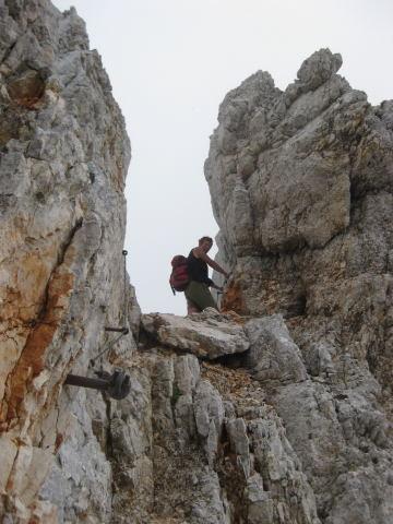 Foto: Wolfgang Lauschensky / Wander Tour / Rjavina 2532m / Ausstieg des Nordgratklettersteiges / 18.10.2009 12:08:42