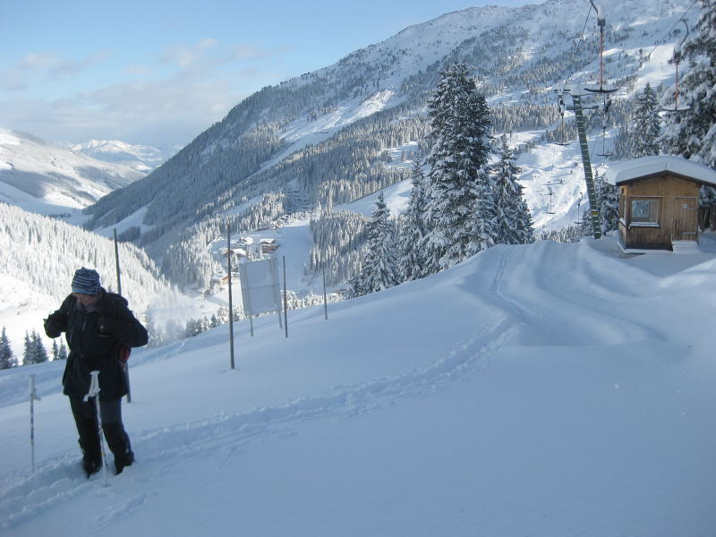 Foto: Wolfgang Lauschensky / Ski Tour / Pfaffenbichl 2431m / Liftrassenaufstieg / 18.10.2009 18:13:24