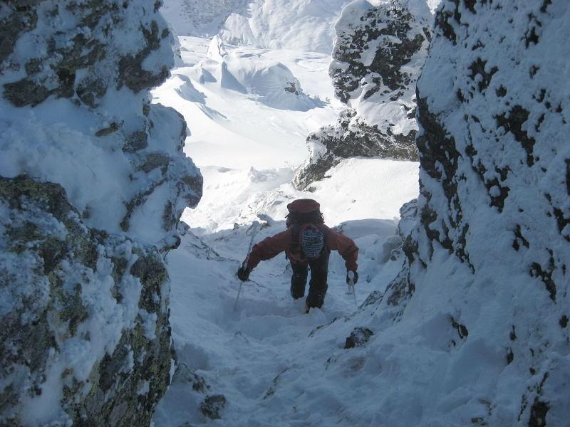 Foto: Wolfgang Lauschensky / Ski Tour / Pfaffenbichl 2431m / schattige Steilrinne / 18.10.2009 18:12:34