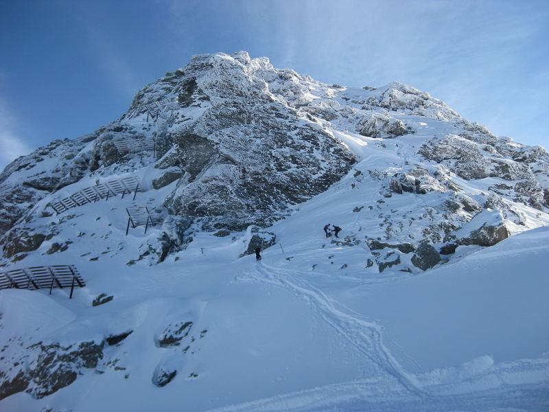 Foto: Wolfgang Lauschensky / Ski Tour / Pfaffenbichl 2431m / der Gipfelanstieg ist erahnbar / 18.10.2009 18:11:08