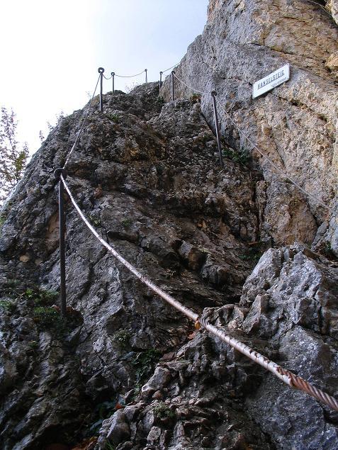 Foto: Andreas Koller / Klettersteig Tour / Hanselsteig und Leiterlsteig (870m) / Einstieg Hanselsteig / 19.10.2009 19:36:31