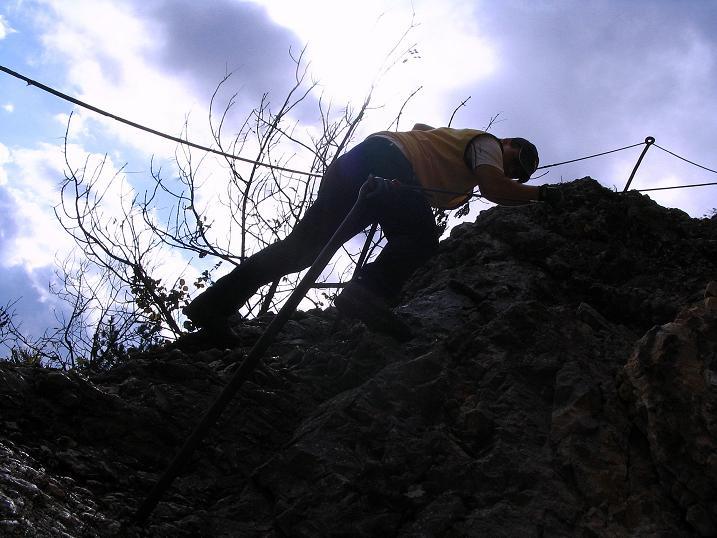 Foto: Andreas Koller / Klettersteig Tour / Hanselsteig und Leiterlsteig (870m) / 19.10.2009 19:35:50