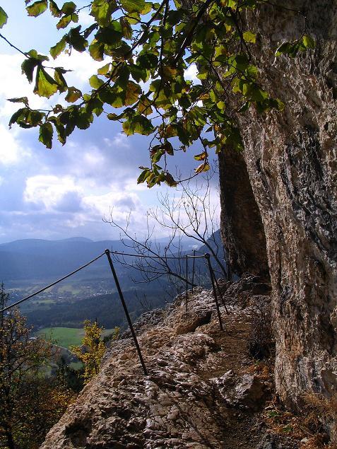 Foto: Andreas Koller / Klettersteig Tour / Hanselsteig und Leiterlsteig (870m) / 19.10.2009 19:34:31