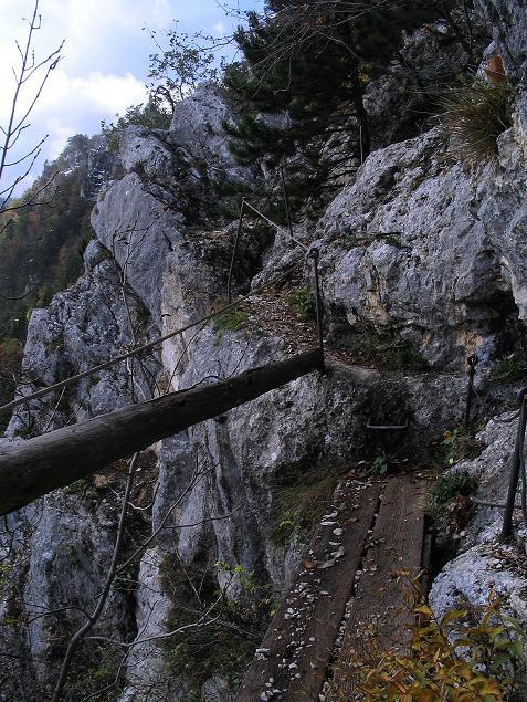 Foto: Andreas Koller / Klettersteig Tour / Hanselsteig und Leiterlsteig (870m) / 19.10.2009 19:34:23