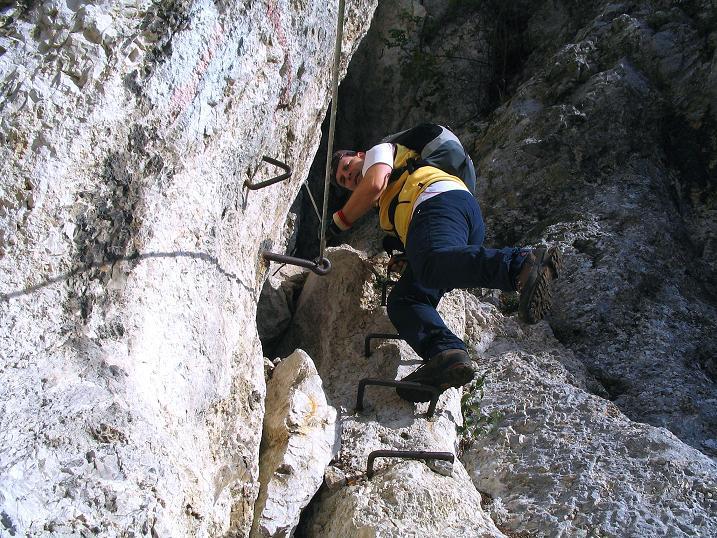Foto: Andreas Koller / Klettersteig Tour / Hanselsteig und Leiterlsteig (870m) / 19.10.2009 19:34:08