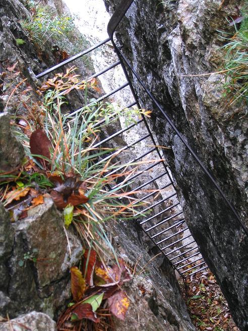 Foto: Andreas Koller / Klettersteig Tour / Hanselsteig und Leiterlsteig (870m) / 19.10.2009 19:32:55