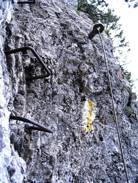Foto: Andreas Koller / Klettersteig Tour / Hanselsteig und Leiterlsteig (870m) / 19.10.2009 19:29:43