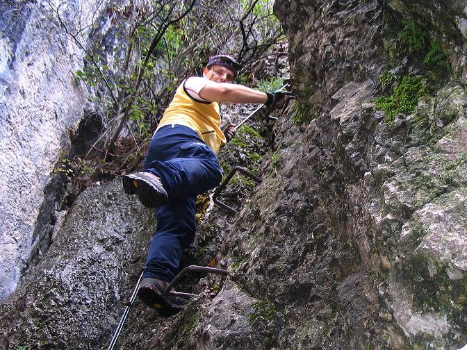 Foto: Andreas Koller / Klettersteig Tour / Hanselsteig und Leiterlsteig (870m) / 19.10.2009 19:29:23