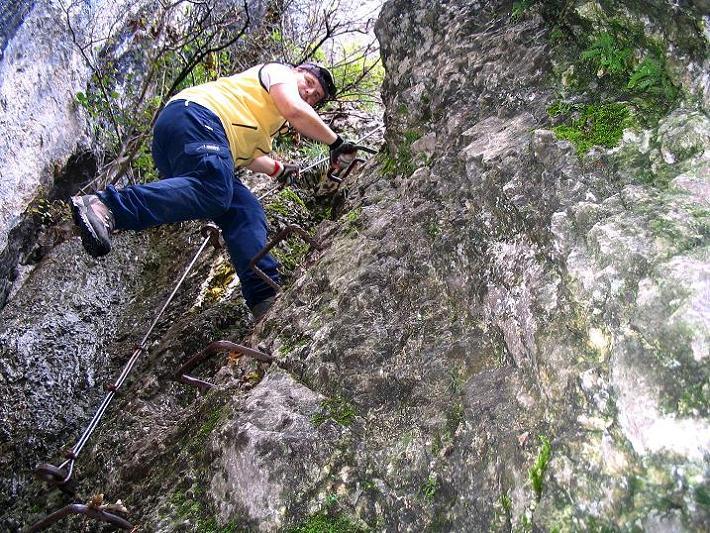Foto: Andreas Koller / Klettersteig Tour / Hanselsteig und Leiterlsteig (870m) / 19.10.2009 19:29:14