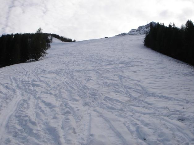 Foto: Manfred Karl / Ski Tour / Eckerleiten - Purtschellerhaus / Am Beginn des Anstieges über die Eckerleiten / 25.10.2009 16:43:07