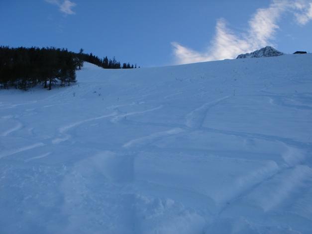 Foto: Manfred Karl / Ski Tour / Eckerleiten - Purtschellerhaus / Unterer Teil des Hanges / 25.10.2009 16:34:37