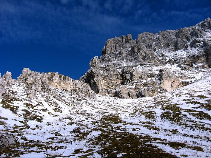 Foto: Andreas Koller / Klettersteig Tour / Leiternweg durch die Südwand auf den Montasch (2753m) / 27.10.2009 22:20:06
