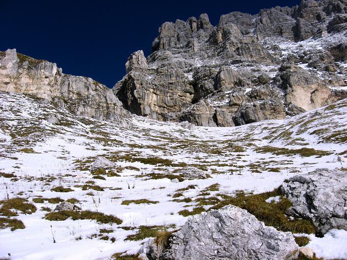 Foto: Andreas Koller / Klettersteig Tour / Leiternweg durch die Südwand auf den Montasch (2753m) / 27.10.2009 22:19:58