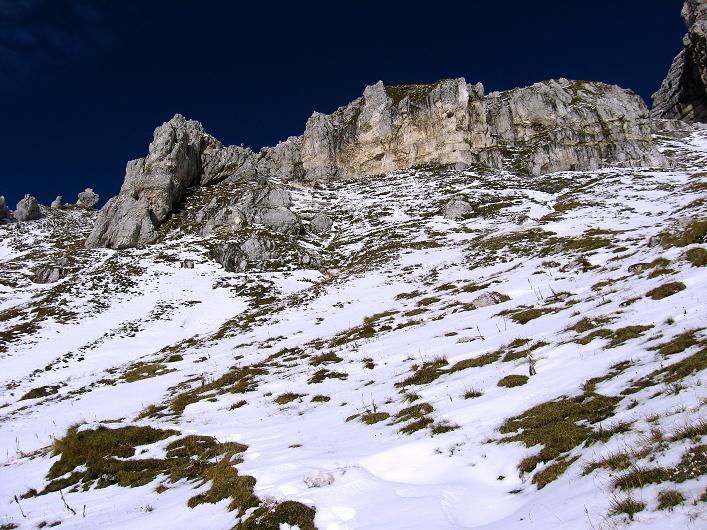 Foto: Andreas Koller / Klettersteig Tour / Leiternweg durch die Südwand auf den Montasch (2753m) / 27.10.2009 22:19:48