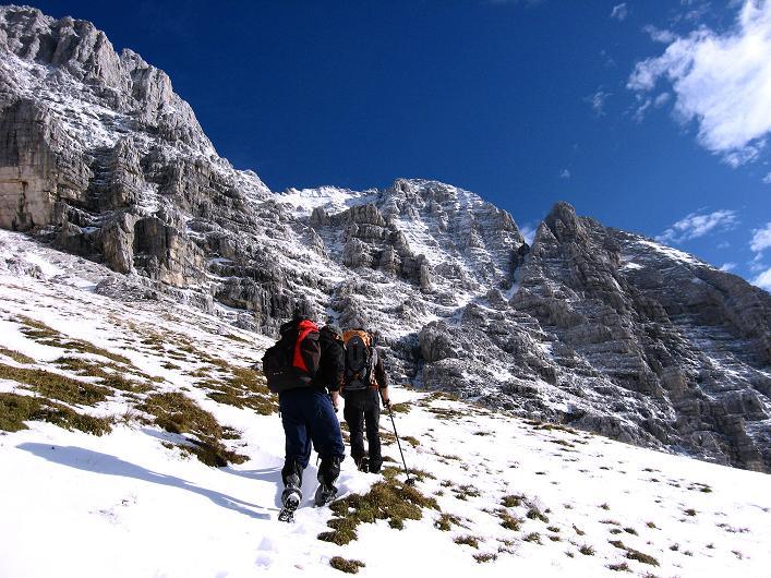Foto: Andreas Koller / Klettersteig Tour / Leiternweg durch die Südwand auf den Montasch (2753m) / 27.10.2009 22:19:19