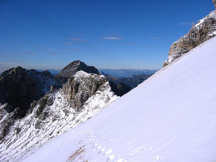 Foto: Andreas Koller / Klettersteig Tour / Leiternweg durch die Südwand auf den Montasch (2753m) / 27.10.2009 22:18:36