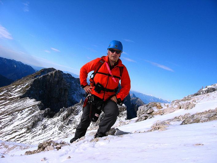 Foto: Andreas Koller / Klettersteig Tour / Leiternweg durch die Südwand auf den Montasch (2753m) / Beim Einstieg / 27.10.2009 22:18:28