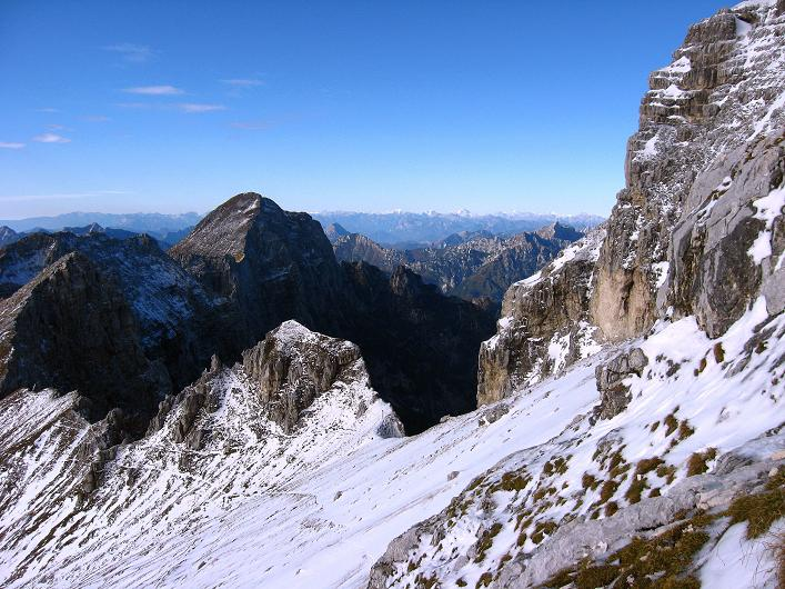 Foto: Andreas Koller / Klettersteig Tour / Leiternweg durch die Südwand auf den Montasch (2753m) / 27.10.2009 22:16:07