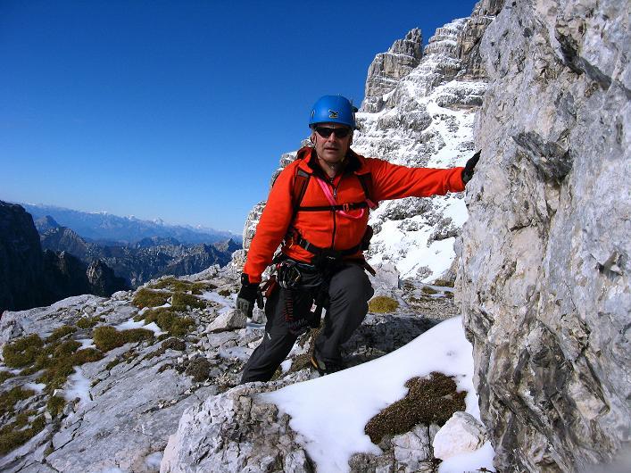 Foto: Andreas Koller / Klettersteig Tour / Leiternweg durch die Südwand auf den Montasch (2753m) / 27.10.2009 22:15:59
