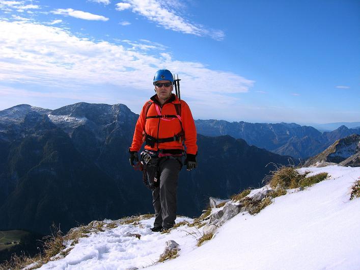 Foto: Andreas Koller / Klettersteig Tour / Leiternweg durch die Südwand auf den Montasch (2753m) / 27.10.2009 22:15:44