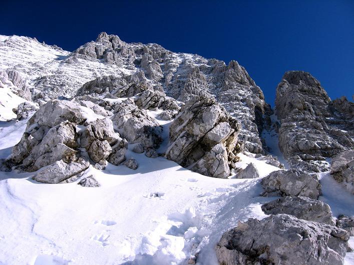 Foto: Andreas Koller / Klettersteig Tour / Leiternweg durch die Südwand auf den Montasch (2753m) / 27.10.2009 22:15:37