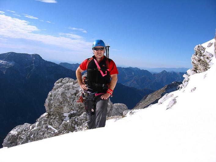 Foto: Andreas Koller / Klettersteig Tour / Leiternweg durch die Südwand auf den Montasch (2753m) / 27.10.2009 22:15:31