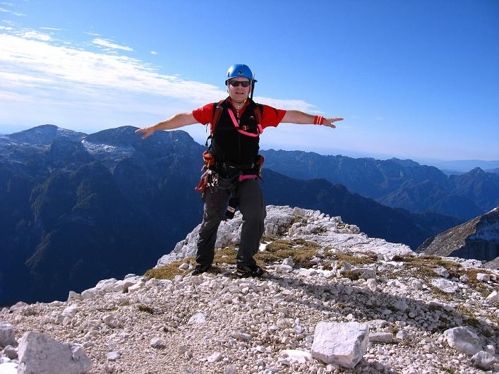 Foto: Andreas Koller / Klettersteig Tour / Leiternweg durch die Südwand auf den Montasch (2753m) / 27.10.2009 22:15:04