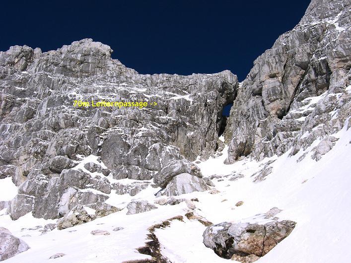 Foto: Andreas Koller / Klettersteig Tour / Leiternweg durch die Südwand auf den Montasch (2753m) / Südwand / 27.10.2009 22:14:56