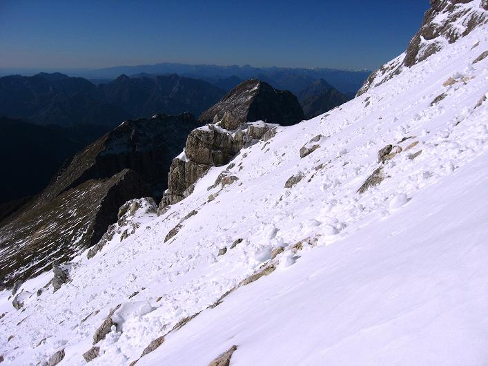 Foto: Andreas Koller / Klettersteig Tour / Leiternweg durch die Südwand auf den Montasch (2753m) / 27.10.2009 22:14:45