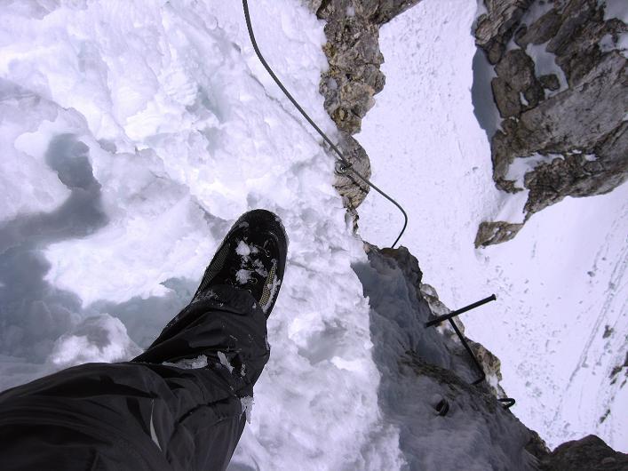 Foto: Andreas Koller / Klettersteig Tour / Leiternweg durch die Südwand auf den Montasch (2753m) / 27.10.2009 22:13:43